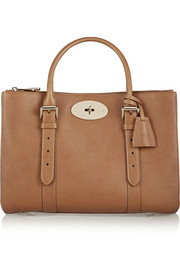 The Bayswater Double Zip textured-leather tote