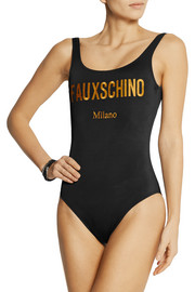 Moschino Fauxschino embroidered swimsuit