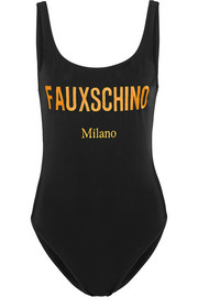 Fauxschino embroidered swimsuit