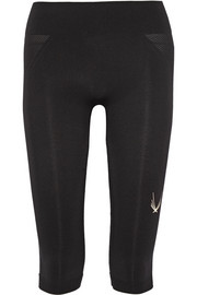 Technical Knit stretch capri leggings