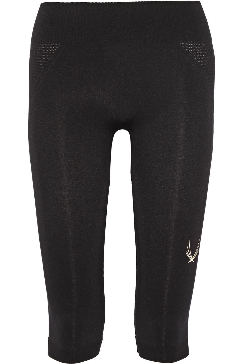 Lucas Hugh Technical Knit Stretch Capri Leggings, Black, Women's