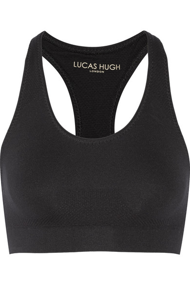 lucas hugh female 188971 lucas hugh technical knit stretch sports bra black
