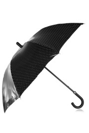 Dolce & Gabbana PU-coated polka-dot cotton umbrella