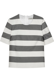 Burberry London Striped silk and cotton-blend faille top