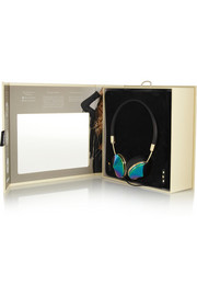 Layla leather and iridescent metal headphones