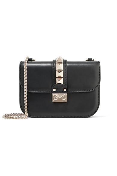 Valentino - Lock Small Leather Shoulder Bag - Black