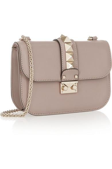 Valentino Garavani Lock Small Leather Shoulder Bag