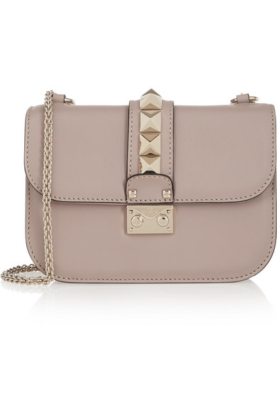 2ace2fa67ad Valentino | Valentino Garavani Lock small leather shoulder bag |  NET-A-PORTER.COM