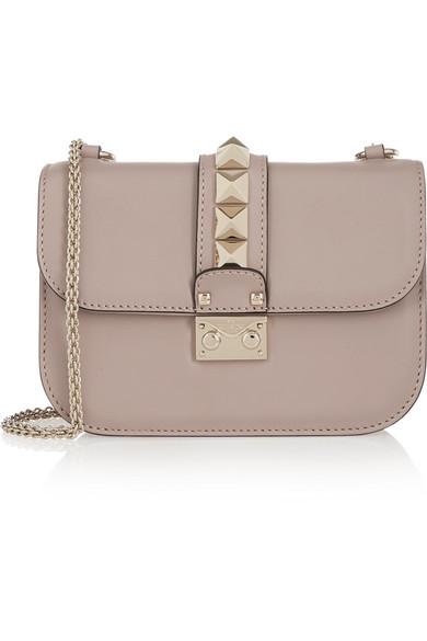 Valentino - Lock Small Leather Shoulder Bag - Blush