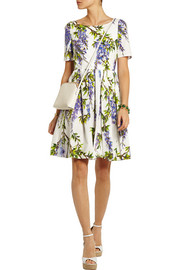 Dolce & Gabbana Floral-print cotton-poplin dress
