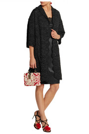 Dolce & Gabbana Guipure lace and silk-satin coat