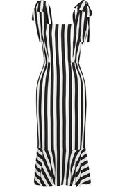Striped crepe dress