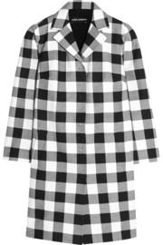 Gingham cotton coat
