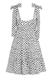 Polka-dot cotton-poplin mini dress