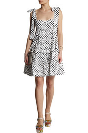 Dolce & Gabbana Polka-dot cotton-poplin mini dress