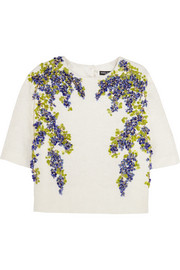 Embellished jacquard top