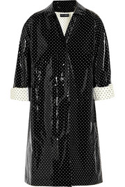Polka-dot coated cotton raincoat