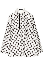 Cape-style polka-dot shell jacket