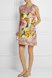 Dolce & Gabbana Floral-jacquard mini dress