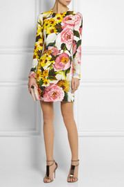 Dolce & Gabbana Floral-print cady mini dress
