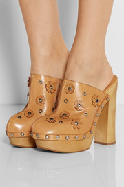 Michael Kors Prim appliquéd leather clogs