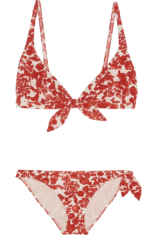 Tory Burch Issy printed triangle bikini