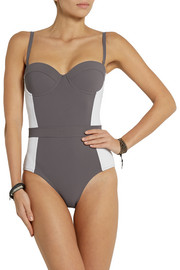 Tory Burch Lipsi color-block swimsuit