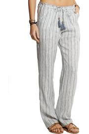 Tory Burch Luna striped linen pants