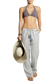 Luna striped linen pants