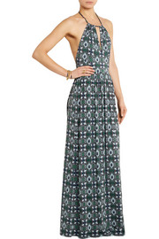 Tory Burch Laguna printed stretch-jersey maxi dress