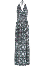 Laguna printed stretch-jersey maxi dress