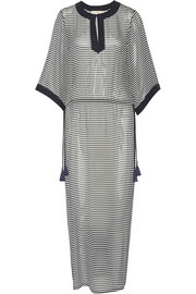 Clemente striped silk-chiffon kaftan