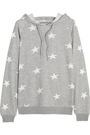 Star-print jersey hooded top