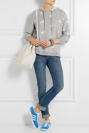 Zoe Karssen Star-print jersey hooded top