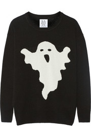 Ghost intarsia wool-blend sweater