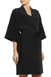 Silk crepe de chine robe