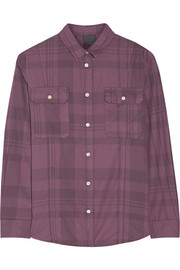 Lot78 Plaid cotton-twill shirt