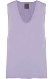 Modal and cotton-blend jersey tank