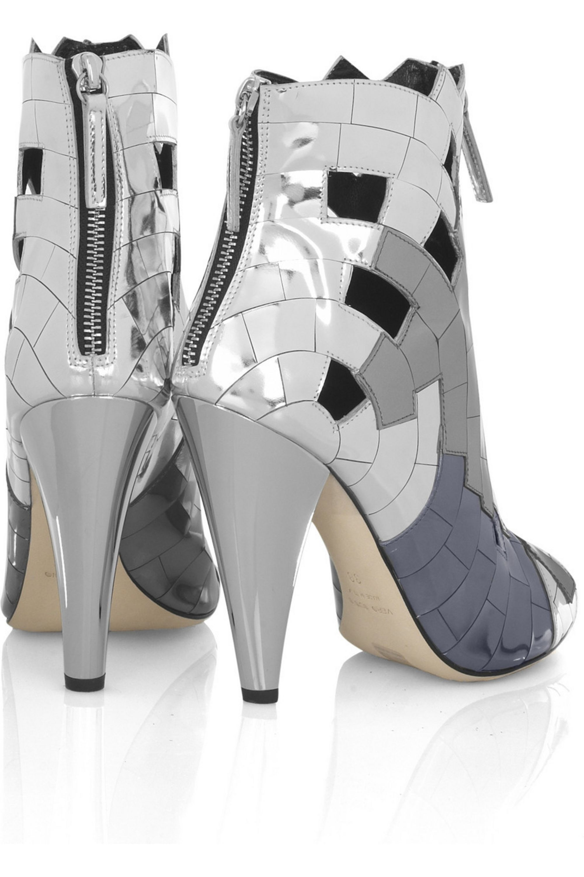 Thakoon Mirror mosaic ankle boots