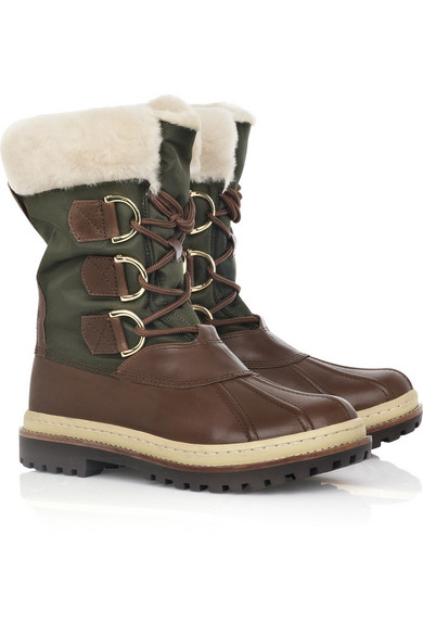 1291b0bcf15 Tory Burch. Leather duck boots