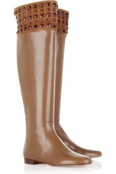 Valentino|Swarovski crystal leather boots|NET-A-PORTER.COM from net-a-porter.com