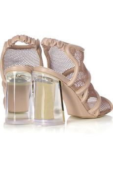 Stella McCartneyMesh Lucite heel sandals