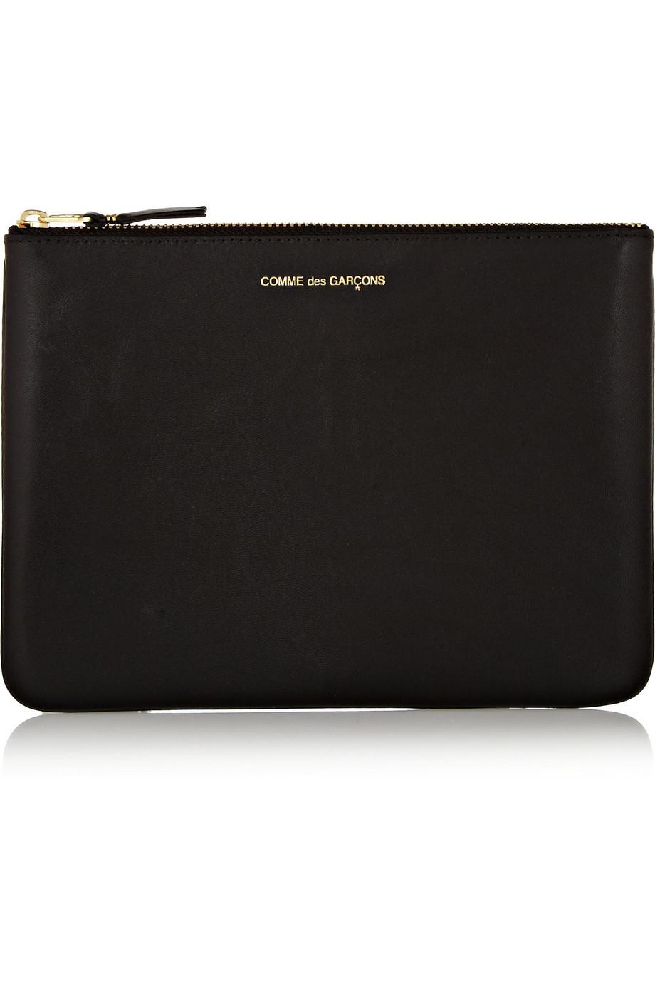 Leather Pouch, Comme Des Garçons, Black, Women's