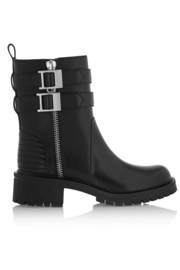 Givenchy Buckled leather biker boots