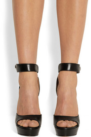 Givenchy Shark Lock platform sandals in black leather