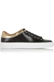 Givenchy Sneakers in gold and black leather