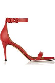 Nadia sandals in red leather