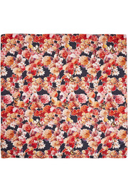 Givenchy Square scarf 120cm x 120cm Flower and Butterfly