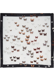 Givenchy Square silk scarf 120cm x 120cm Butterflies