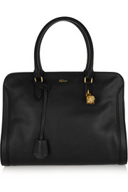 Padlock large textured-leather tote